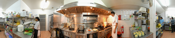 360° kitchen panorama restaurant kitchen