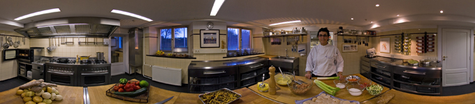 360° kitchen panorama country estate kitchen