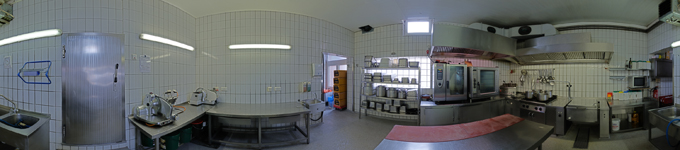 360° kitchen panorama industrial kitchen